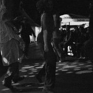 Tanzende Zuschauer