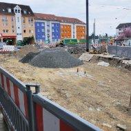Baustelle an der Nordseite vom Buchrainplatz