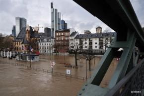 Hochwasser am Eisernen Steg